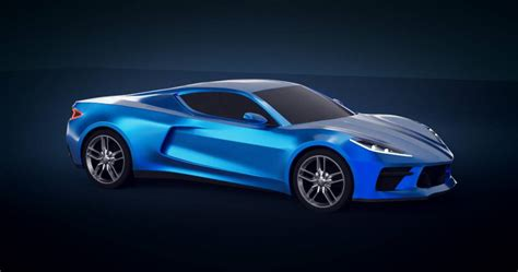 2020 corvette c8 new renderings show mid engine supercar in greater detail new colors
