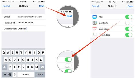 how to add email to iphone how to set up microsoft outlook mail calendar contacts