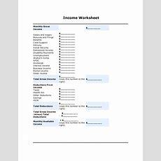 Divorce Finance Worksheet