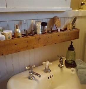 Meuble Salle De Bain Diy : etag re petit meuble de salle de bain ou desserte en bois pas cher diy tag res wc ~ Melissatoandfro.com Idées de Décoration