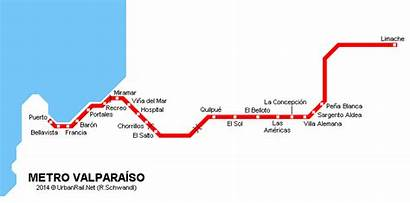 Valparaiso Metro Chile Map Valparaiso System Urbanrail