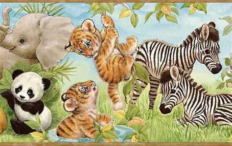 Zoo Animal Wallpaper Borders - baby zoo animals wallpaper border wallpaper border