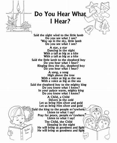 Lyrics Christmas Carol Song Printable Sheets Songs