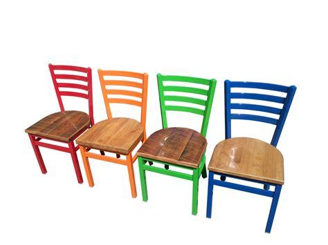 industrial ladderback chair restaurant cafe supplies
