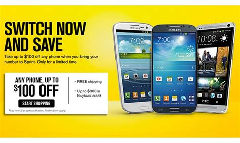 sprint iphone deals sprint to offer 100 device credit for ported numbers on