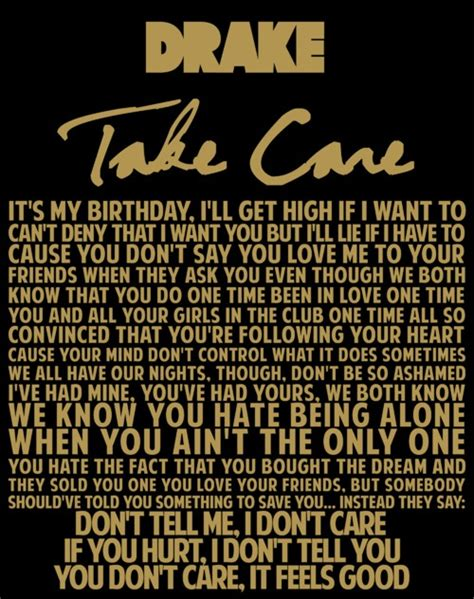 From Take Care Drake Quotes Quotesgram