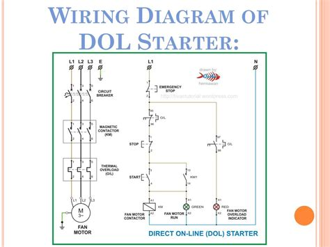dol starter power wiring diagram wiring diagram and
