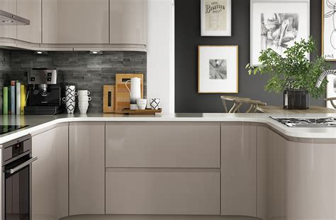 Cream Gloss Kitchens Ideas - gloss cashmere benchmarx kitchens joinery