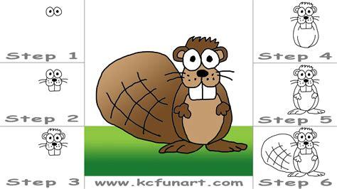 draw  cartoon beaver youtube