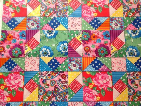 flowers   window quilting bee patchwork fabric