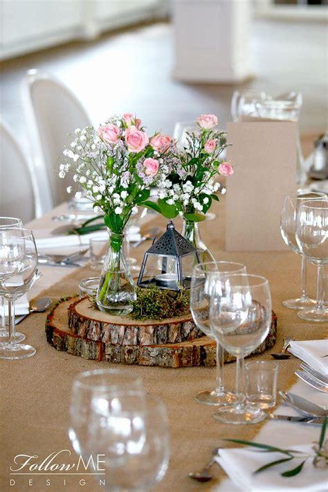 rustykale dekoracje stolow dekoracje stolow na plastrach