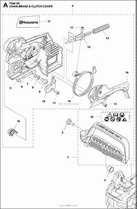 Husqvarna T540 Xp Parts Diagram For Chain Brake Clutch Cover