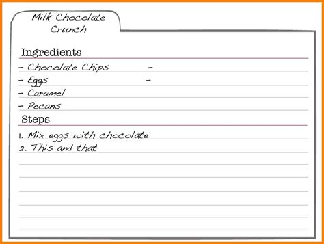 editable recipe card templates  microsoft word