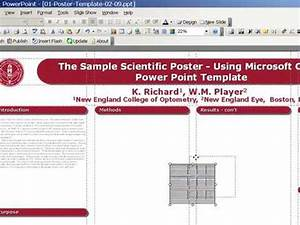 poster design with powerpoint template youtube With neco template