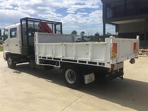 2007 Hino 3630 Crew  Dual Cab  Tipper  Crane Truck Auction