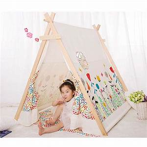 Tente Enfant Tipi : acheter populaire 100 coton kid tente tipi tissu tente tipi pour enfants cool ~ Teatrodelosmanantiales.com Idées de Décoration