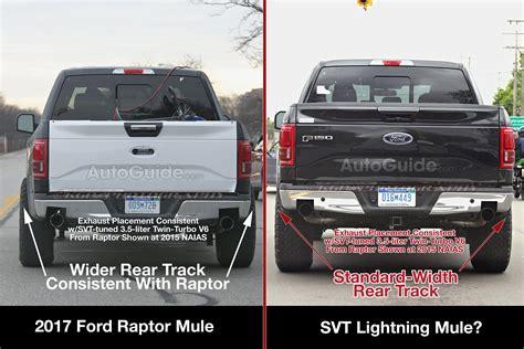 2017 Svt Lightning by 2017 Ford F 150 Raptor Photos Hint At Svt Lightning