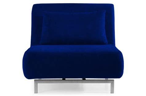 fauteuil convertible 1 place rodrigue bleu fauteuil design pas cher