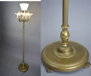 Vintage 192039s rembrandt art deco 4 light mogul floor lamp for Floor lamp 4 bulbs