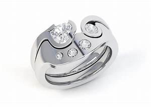 interlocking diamond rings getting a perfect fit locking With locking wedding rings