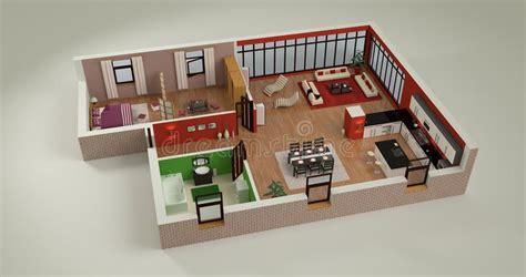 simple 4 bedroom house plans house mockup stock illustration illustration of interior