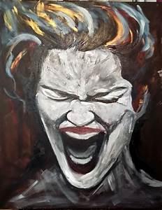 Peinture Visage Femme : acrylique couteau portrait femme peinture d 39 art et d 39 esprit ~ Melissatoandfro.com Idées de Décoration