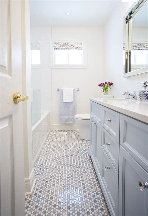 bathroom  gray marble floor transitional bathroom