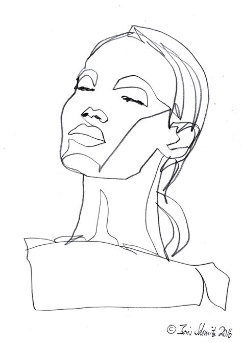 gaze  continuous  drawing  boris schmitz art