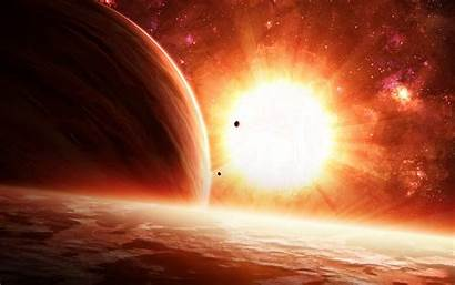 Sun Sci Fi Background Wallpapers Wall