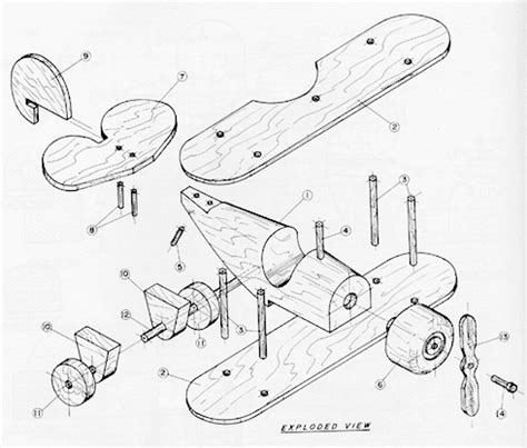wooden wood toy plane plans   plans