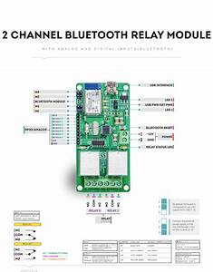 2 Channel Bluetooth Relay Module With Gpio
