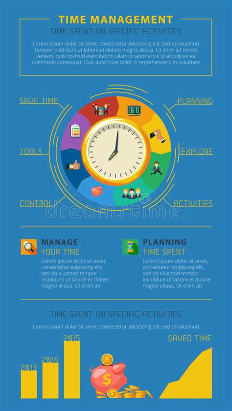 Time Management Tips Infographic Poster Stock Vector ...