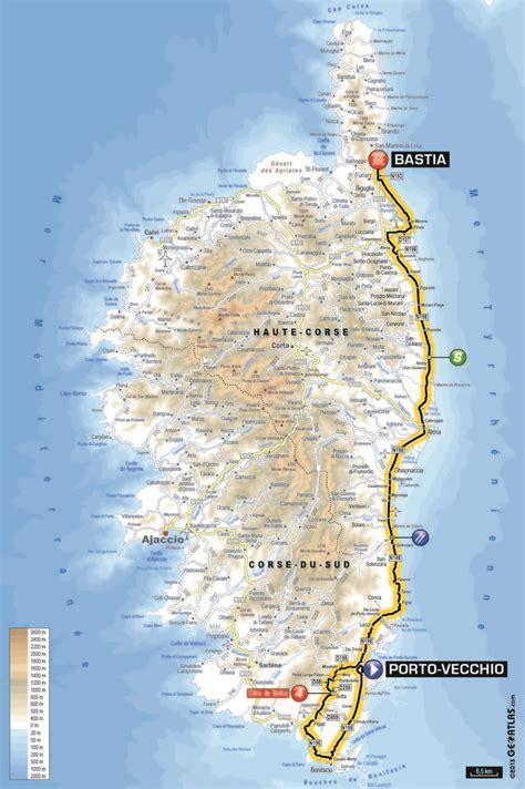 de france  route  map stage