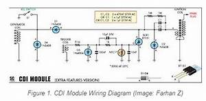 Electronic Diagram Capacitor Discharge Ignition  Cdi  For