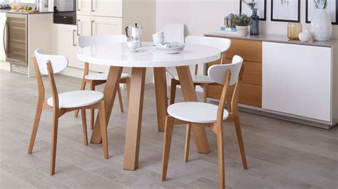 white and oak dining table set white gloss and oak 4 seater dining set round dining table