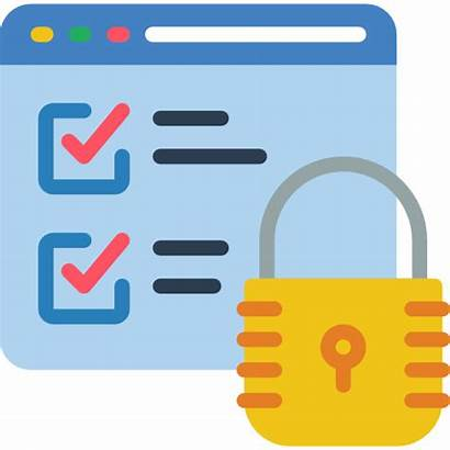 Secure Data Icon Icons Security Flat