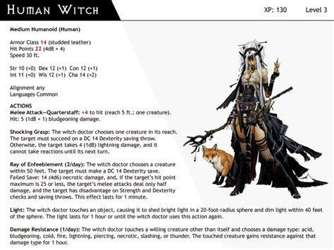 dnd witch monster cards human monsters dizman deviantart dragons 5e card witches character dungeons dragon edition 5th kobold succubus rpg