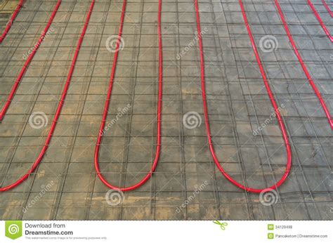 Pex Radiant Floor Heating In Concrete by Hydronic Heating Pex Tubing Royalty Free Stock Photos