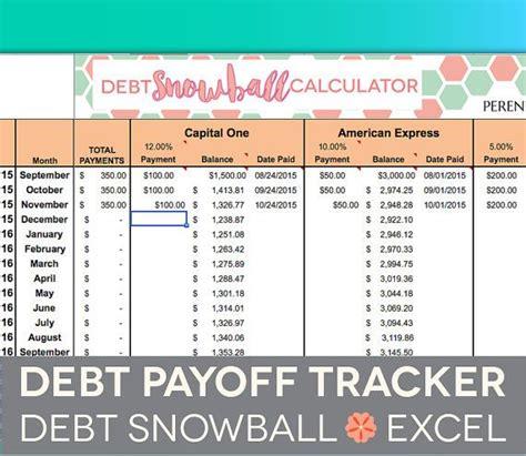 Debt Payoff Spreadsheet  Debt Snowball, Excel, Credit