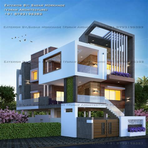 House Exterior Design Concept by Modern Residential House Bungalow Exterior By Ar