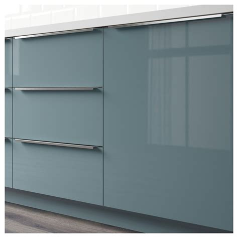 Ikea Kitchen Cabinets High by Kallarp Drawer Front High Gloss Gray Turquoise In 2019
