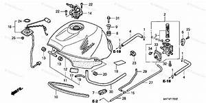 Honda Motorcycle 1997 Oem Parts Diagram For Fuel Tank