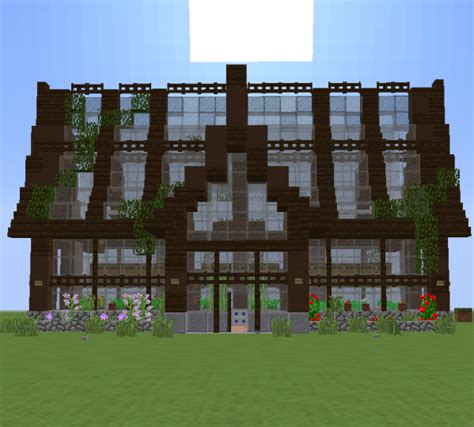 simple beautiful green house minecraft map