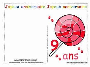 Invitation Anniversaire Fille 9 Ans : carte anniversaire gratuite imprimer garcon 9 ans ~ Melissatoandfro.com Idées de Décoration