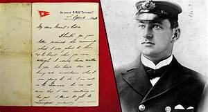 Eerie Letter From Titanic's Second In Command Revealed
