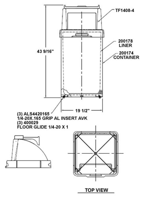 Flat Steel Waste Containers, Trash Receptacles