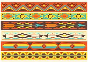 Native American Pattern Vector Borders - Download Free ...