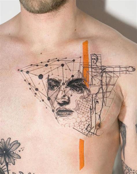 brust tattoos männer m 228 nner brust brust tut es weh tattoos zenideen beste brust und dekollet tattoos