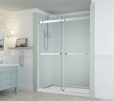 Frameless Bypass Shower Doors Sdr977 Rivage Frameless Dual Bypass Sliding Alcove Shower