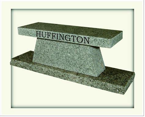 granite memorial bench collection